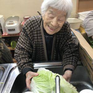 白菜の漬物作り
